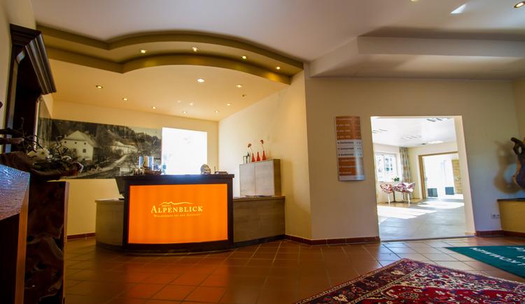 Der neugestaltete Empfangsbereich des Hotels