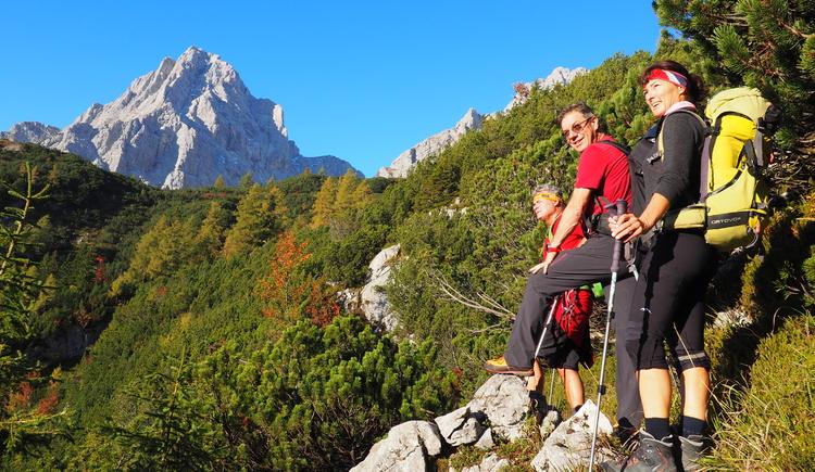Gr. Priel Klettersteig Holger Friedl Manuela 10.10.2018 08-42-17 (© TVB Pyhrn-Priel/Kniewasser)