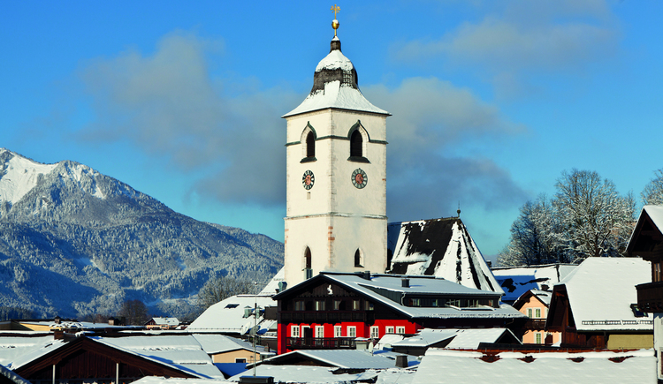 Blick auf den Kirchturm von St. Wolfgang. (© WTG)