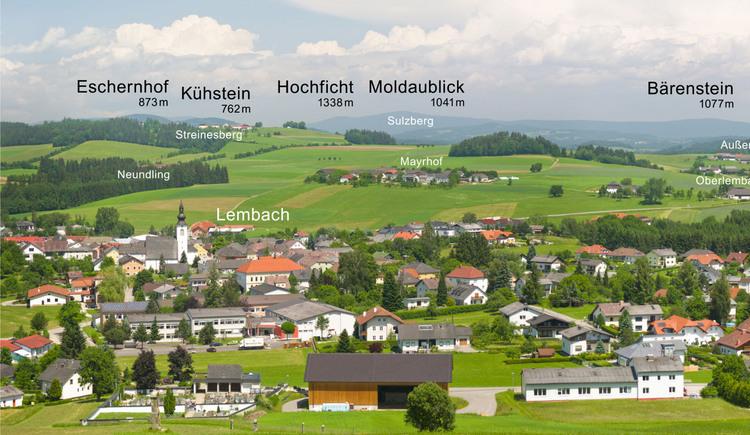 Blick auf Lembach (© Tourismusverband Lembach i.M.)