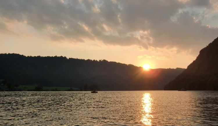 Sonnenuntergang Donau