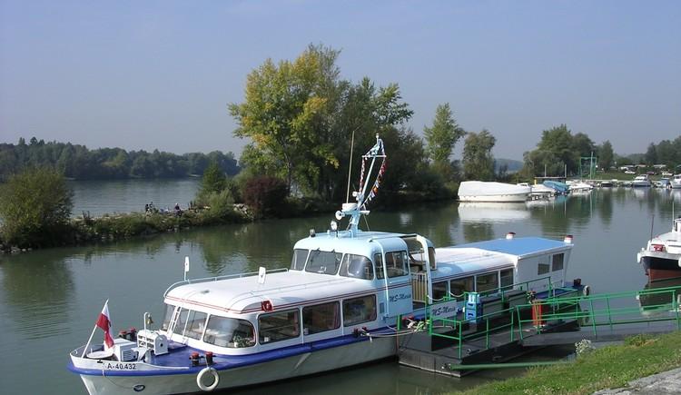 Schiff MS Maria im Ennshafen. (© Donauschiffahrt Ardagger GmbH)