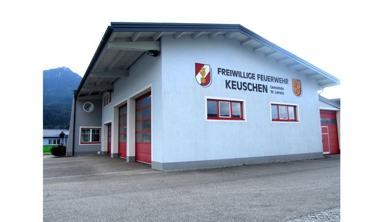 Blick auf das Feuerwehr Haus
