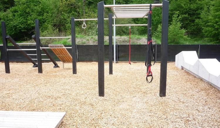 Ein moderner Fitnesspark zum Kondition und Kraft tanken oder einfach nur gemeinsam Spaß\nhaben.
