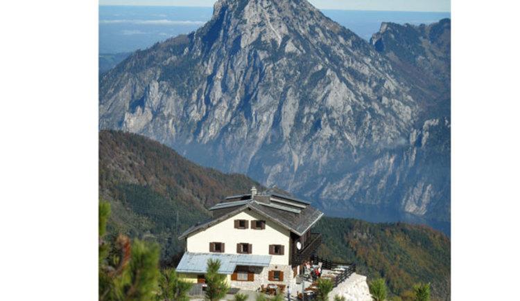 Kranabethhütte Hintergrund Traunstein