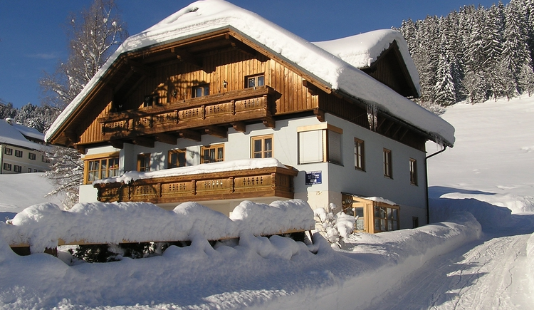 Gosau covered in snow