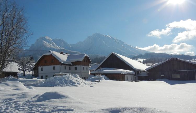 schnee, Winterlandschaft, Bauernhof, Langlaufen