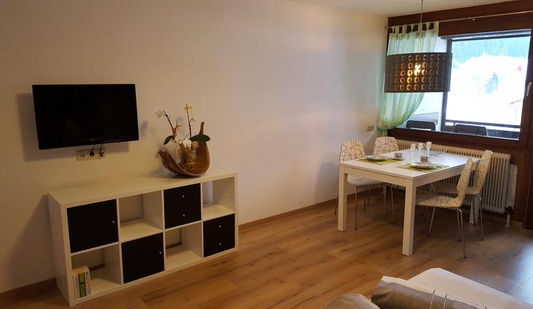 die Wohnung ist mit einem Fernseher ausgestattet