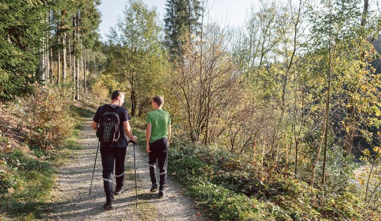 Wanderin im Rannatal (© Stöbich)