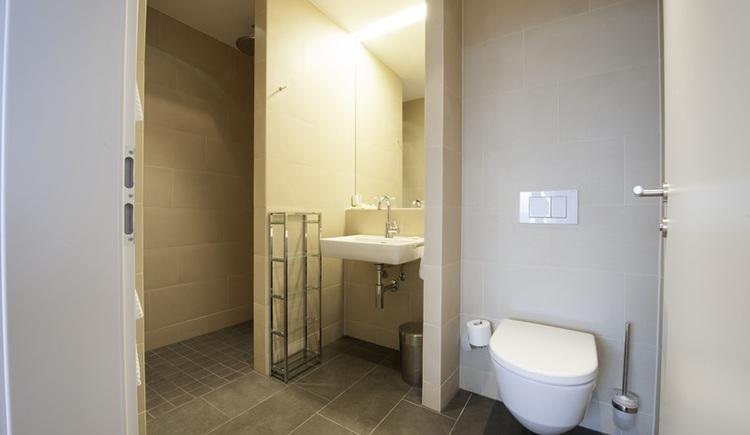 Hotel Aichinger, Suite im Landhaus - Badezimmer. (© Hotel Aichinger)
