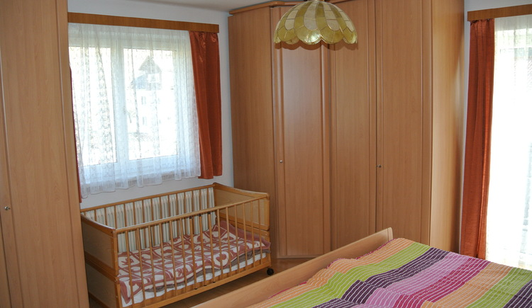 bedroom with crib on the first floor