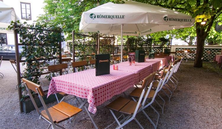 Gastgarten. (© Schwechaterhof)