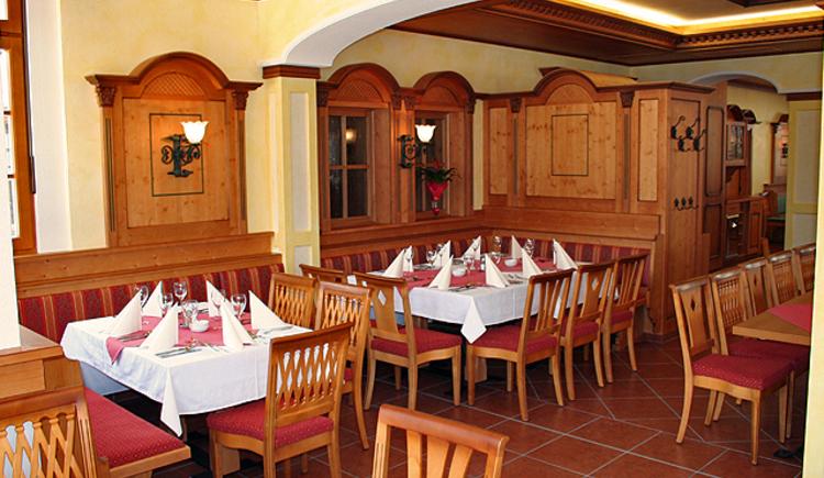 Das Restaurant und Festsaal vom Gasthof zur Wacht in Strobl am Wolfgangsee