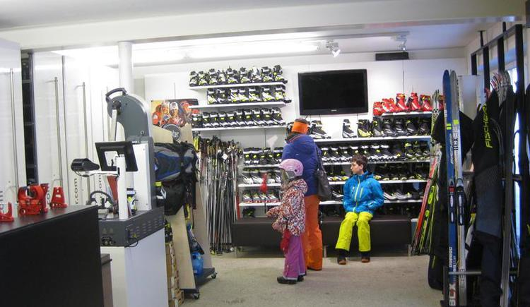 Rental of different winter sport equipments
