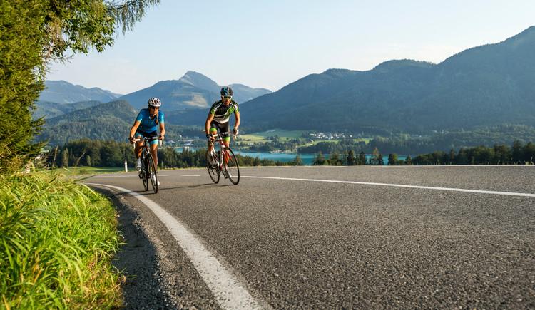 Radfahrer auf Jedermann Genusstour Strecke. (© SalzburgerLandTourismus)