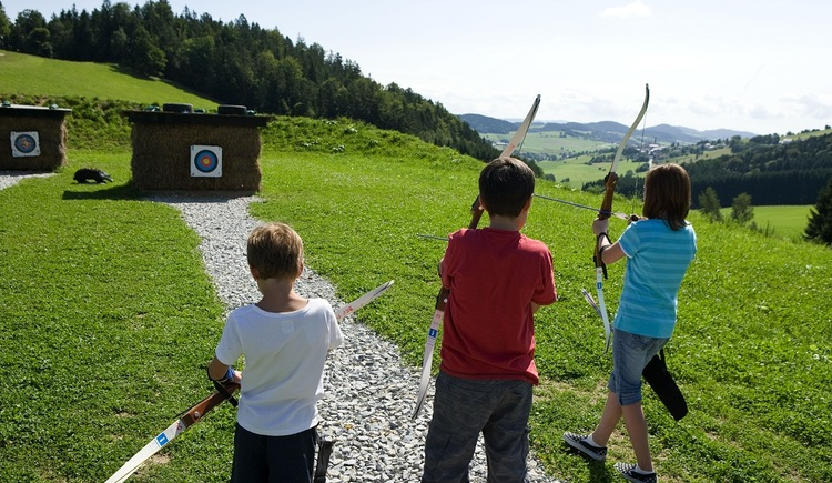 A special fun is shooting archery in the adjacent archery course.