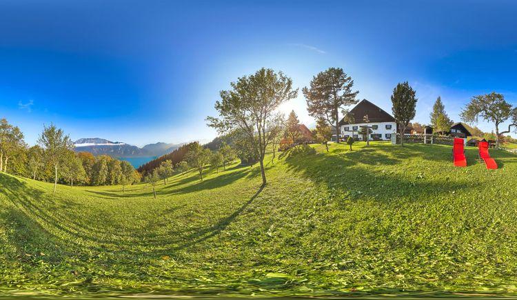 Panoramaaufnahme vom Ferienhof Margarethengut. (© Andreas Graf)