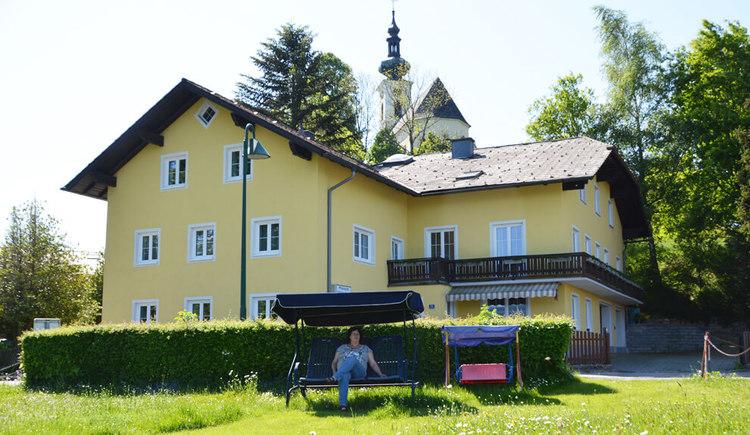 Badeplatz und Liegewiese Pension Viehboeck