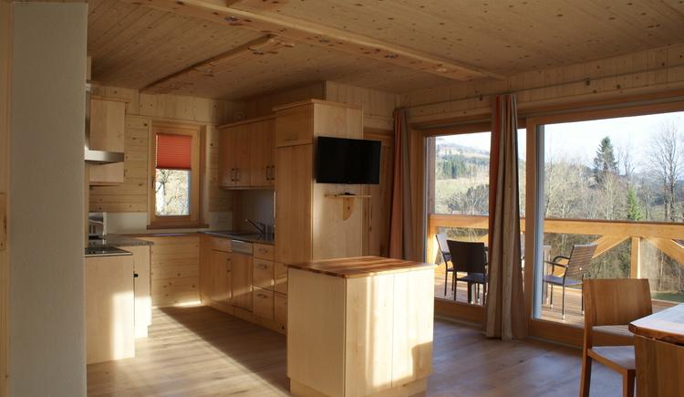 Wohnküche mit Loggia