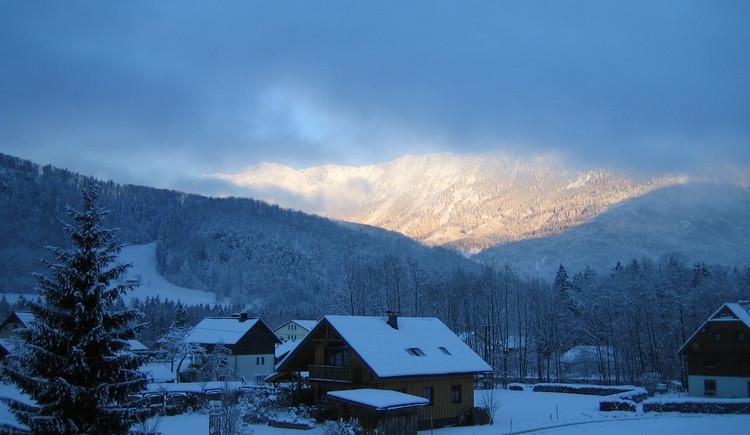 winter twilight in the Goisern Valley.