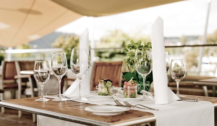 gedeckter Tisch. (© Hotel Nike GmbH)