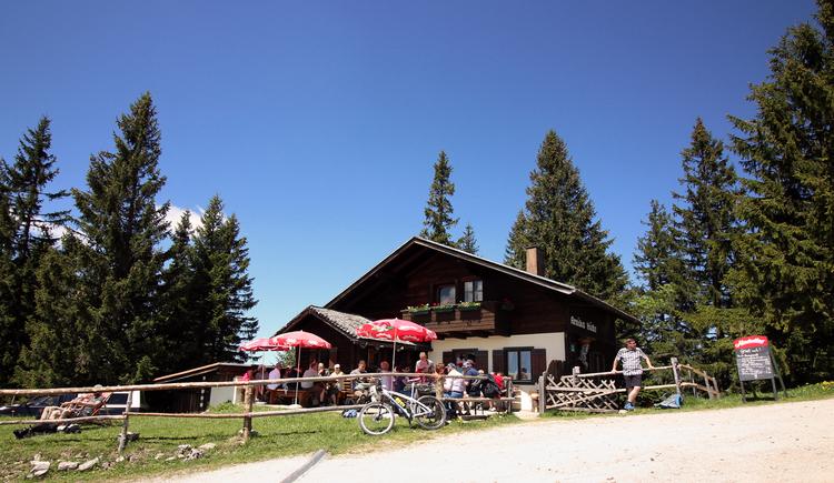 Arnika Hütte am Zwölferhorn. (© Kojetinsky)