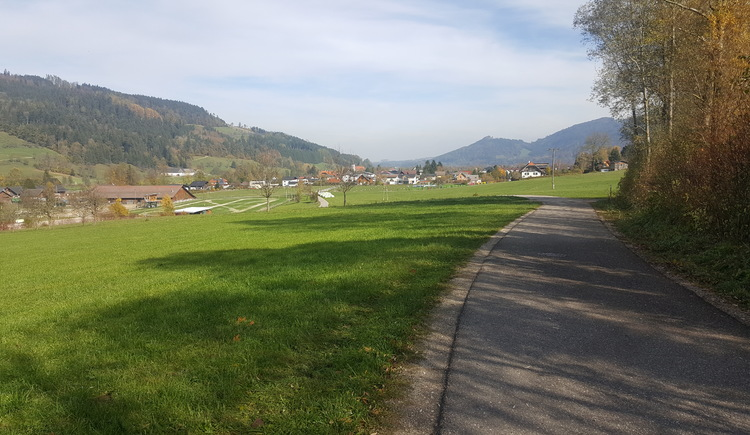Blick vom Dorfbühel auf Viechtwang. (© Hofmann)