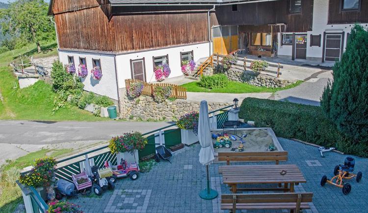 Terrasse im Hof (© Meixner)