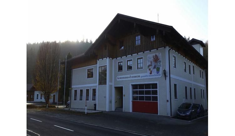 house of fire Brigade Innerschwand, street