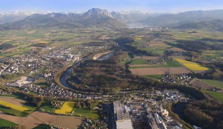 Luftbildaufnahme von Laakirchen (© Stadtgemeinde Laakirchen)