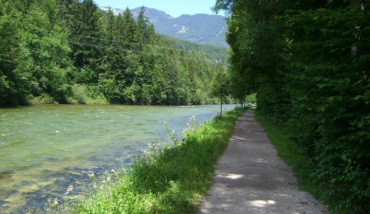 Der Traunreiterweg ist ein gemütlichen Wanderweg entlang der Traun und führt von Bad Goisern bis zur Ortschaft Weißenbach. (© Michaela Kefer)