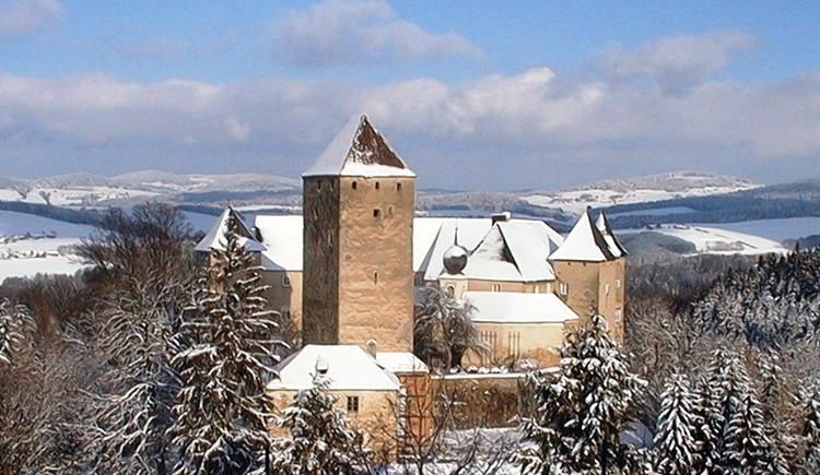 Burg Vichtenstein im Winter.