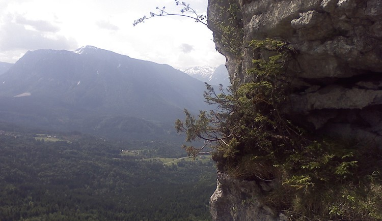 A short but very exposed via ferrata in the Eternal Wall with a magnificent view of the Goiserer Valley. (© TVB)