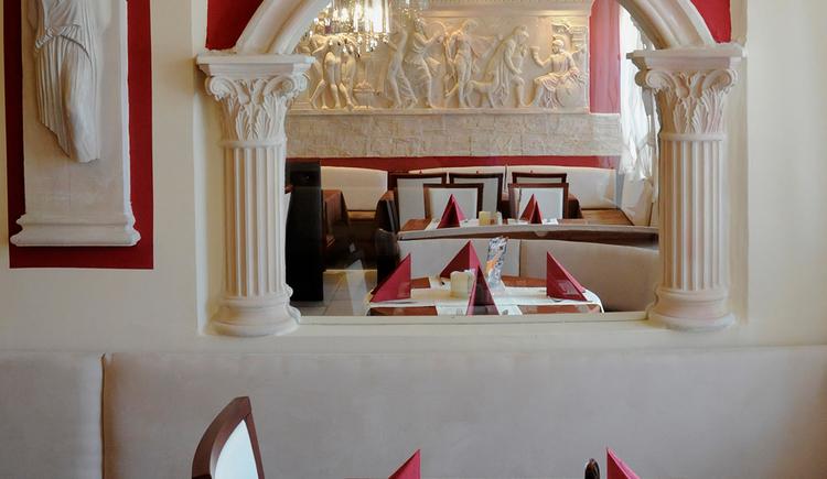 Restaurant Olympia, Obernberg, gedeckter Tisch. (© Innviertel-Tourismus)
