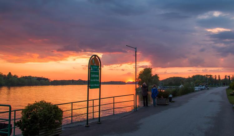 Schiffsanlegestelle Au an der Donau. (© Gerhard Ebner)
