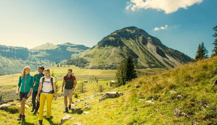 Gruppe wandert vor Genner (© Fuschlseeregion- Erber)