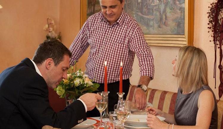 Candle-Light-Dinner im Gasthaus