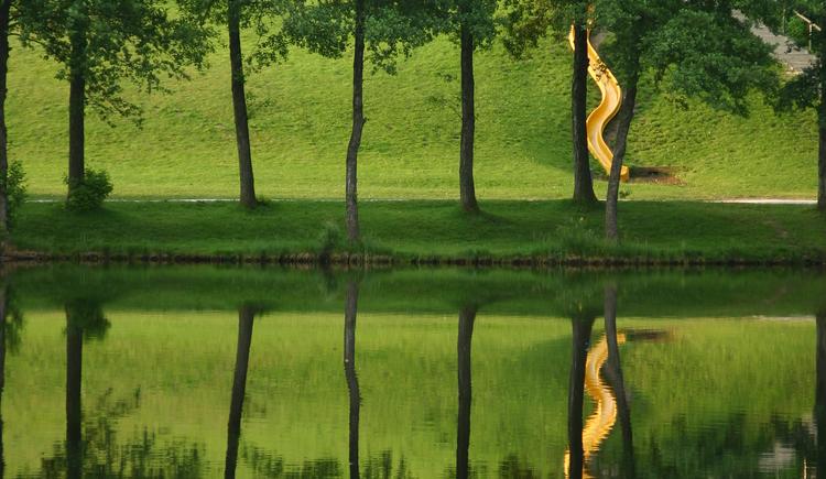Holzöstersee mit Rutsche für Kinder