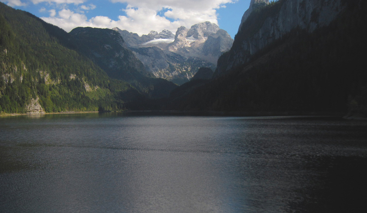 Beatiful view from the Gosaulake to the Dachstein.