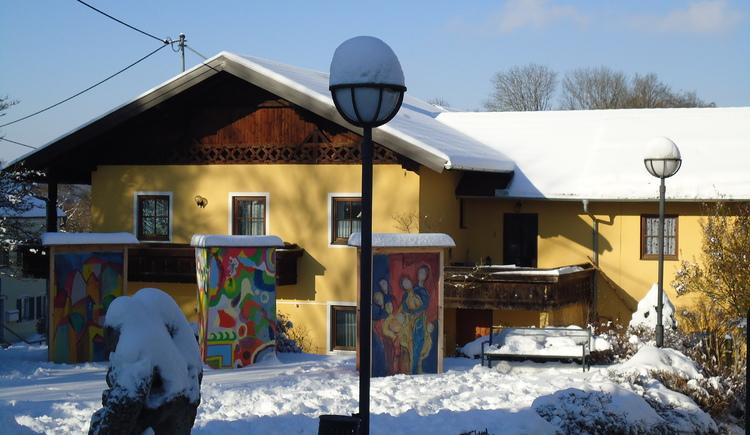 Dorfplatz St. Radegund Blick zum Gasthaus Hofbauer. (© Gemeinde St. Radegund)