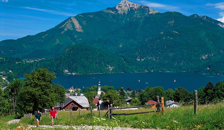 Wandern in St. Gilgen am Wolfgangsee. (© WTG)