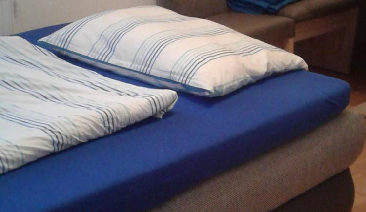Schlafcouch als Bett (© Privat)