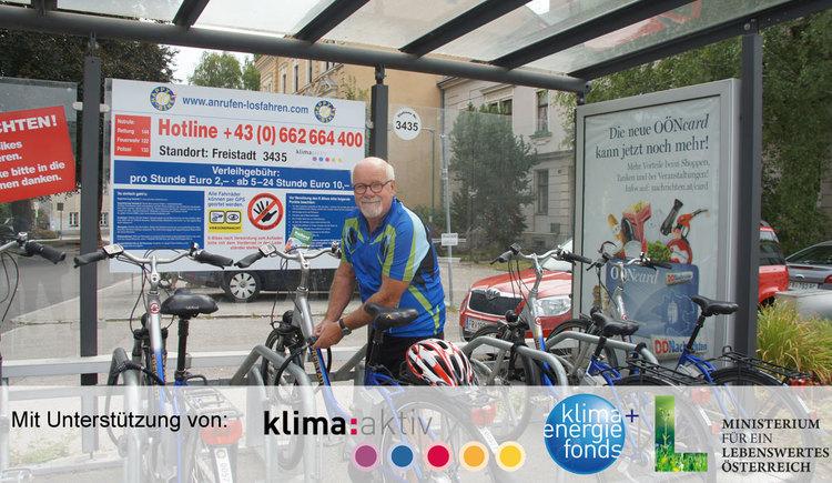 E-Bike Verleihstation Freistadt - Happy-Bike (© Tourismusverband Mühlviertler Kernland/Elmecker)