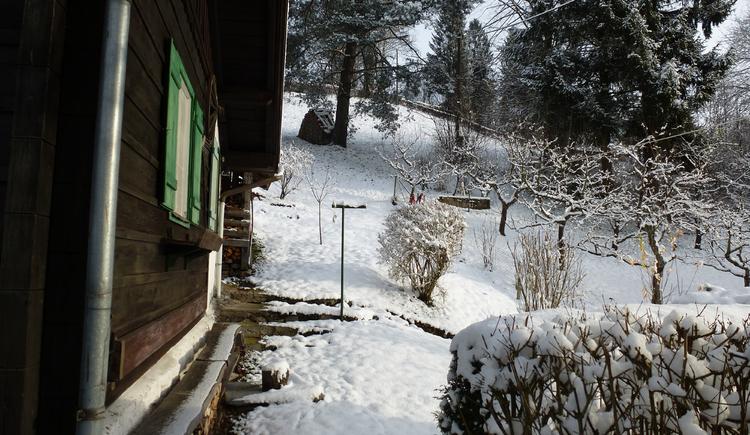 Ferienhaus Rosalinde - Blick auf die Wiese