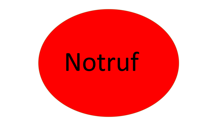 Text: Notruf