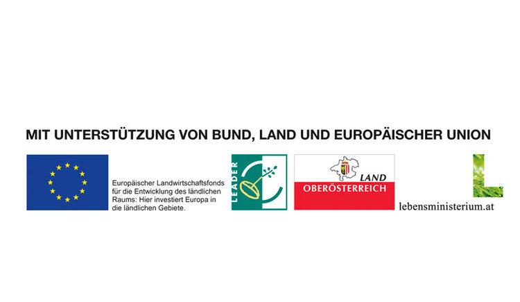 TASSILO-Klettersteig am Schermberg - Grünau im Almtal\nMit Unterstützung von Bund, Land Oberösterreich und der Europäischen Union