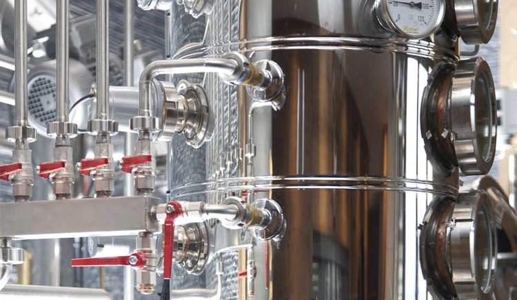 Destillieranlage der Whiskey-Destillerie Affenzeller in Alberndorf in der Riedmark.