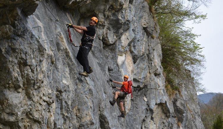 Das Kletterzentrum Trattenbach besteht aus dem Klettersteig Beisteinmauer und dem Klettergebiet Weißensteinerwand. (© Naturfreunde Trattenbach)