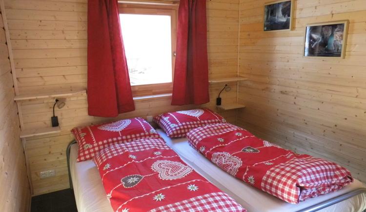 Schlafzimmer im Blockhaus Arcadis