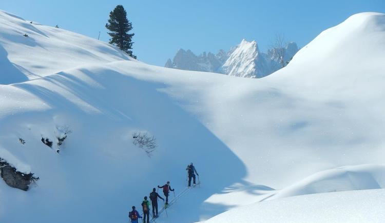 geführte Skitouren. (© Rudi Vonach)